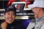 Sebastian Vettel (Red Bull) und Michael Schumacher (Mercedes)