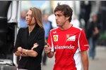 Fernando Alonso (Ferrari) mit seiner neuen Flamme Dascha Kapustina