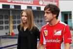 Fernando Alonso (Ferrari) mit Freundin Dascha Kapustina