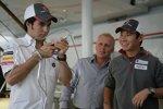 Sergio Perez (Sauber), Johnny Herbert und Kamui Kobayashi (Sauber)