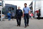 FIA-Präsident Jean Todt und Pressesprecher Matteo Bonciani