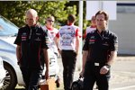 Adrian Newey (Technischer Direktor, Red Bull) und Christian Horner (Red-Bull-Teamchef)