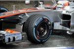 Pirelli-Regenreifen bei Jenson Button (McLaren)