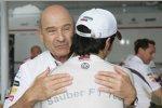 Sergio Perez und Peter Sauber (Sauber)