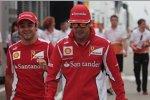 Felipe Massa (Ferrari) und Fernando Alonso (Ferrari)