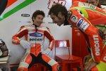 Nicky Hayden und Valentino Rossi (Ducati)