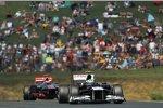 Bruno Senna (Williams) und Jenson Button (McLaren)