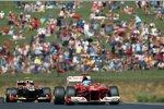 Fernando Alonso (Ferrari) und Romain Grosjean (Lotus)
