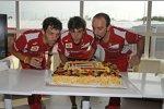 Fernando Alonso (Ferrari) feierte am Sonntag seinen 31. Geburtstag