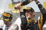 Lewis Hamilton (McLaren) und Romain Grosjean (Lotus)