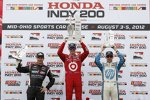 Das Mid-Ohio-Podium: Scott Dixon, Will Power und Simon Pagenaud