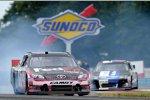 Der Motor im Gibbs-Toyota von Denny Hamlin verendete in Runde 50 im großen Stil