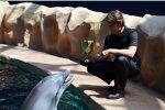 Jeff Gordon und der Delphin