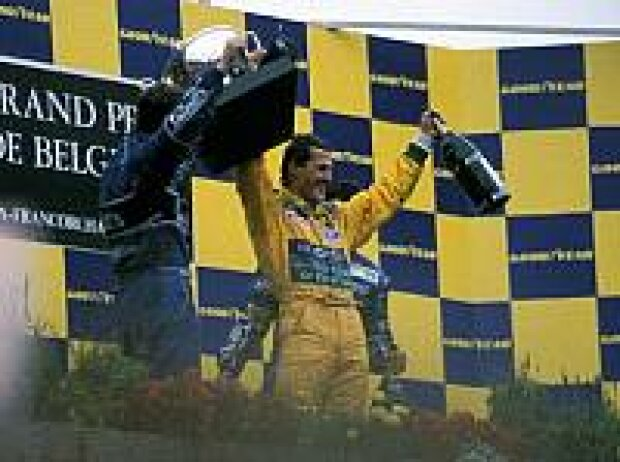Michael Schumacher 1992 in Belgien