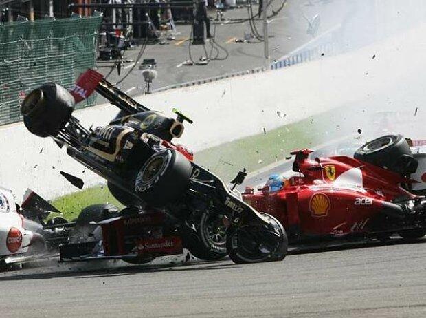 Fernando Alonso, Romain Grosjean