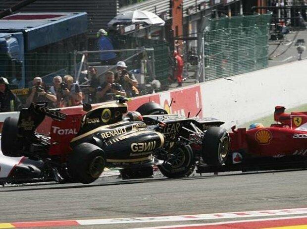 Lewis Hamilton, Romain Grosjean, Fernando Alonso, Sergio Perez, Pastor Maldonado