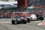 Lewis Hamilton und Sergio Perez