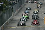 Start zum Baltimore Grand Prix mit Will Power (Penske) und Scott Dixon (Ganassi) in Reihe eins