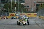 Das Andretti-Duo Ryan Hunter-Reay und James Hinchcliffe führt auf feuchter Strecke