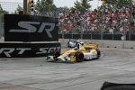 Ryan Hunter-Reay (Andretti) vor Ryan Briscoe (Penske)