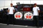 Jenson Button (McLaren) und Lewis Hamilton (McLaren)