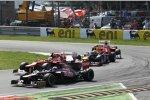 Daniel Ricciardo (Toro Rosso), Felipe Massa (Ferrari), Sebastian Vettel (Red Bull) und Fernando Alonso (Ferrari)