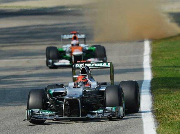 Michael Schumacher und Paul di Resta