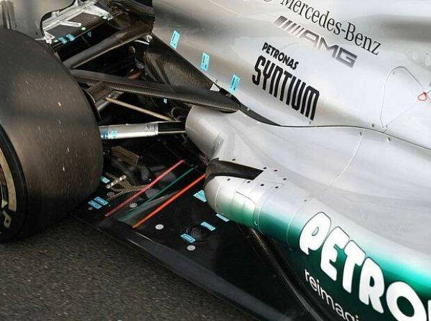 Coanda-Auspuff am Mercedes F1 W03