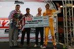 Ryan Hunter-Reay und Teamchef Michael Andretti sind die IndyCar-Champions 2012