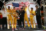 Jubel bei Ryan Hunter-Reay, Michael Andretti und der Andretti-Crew