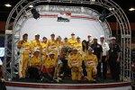 Ryan Hunter-Reay und die Meistermannschaft von Andretti Autosport