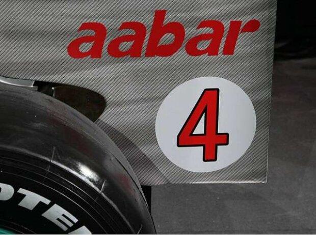 Nico Rosbergs Startnummer 4 der Saison 2010