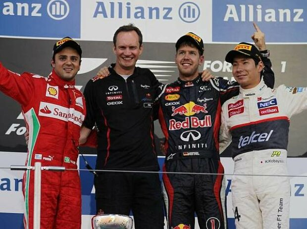 Felipe Massa, Paul Monaghan, Sebastian VettelKamui Kobayashi