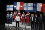 Sebastien Loeb (Citroen), Jari-Matti Latvala (Ford) und Mikko Hirvonen (Citroen)