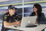Sebastian Vettel (Red Bull) im Interview mit Tanja Bauer von Sky