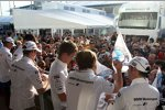 Joey Hand (RMG-BMW), Martin Tomczyk (RMG-BMW), Dirk Werner (Schnitzer-BMW), Marco Wittmann, Augusto Farfus (RBM-BMW) und Andy Priaulx (RBM-BMW)