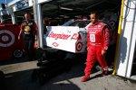 Juan Pablo Montoya streifte mit seinem Earnhardt/Ganassi-Chevrolet am Samstag die Mauer