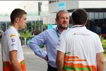 Paul di Resta (Force India) mit Manager Richard Goddard