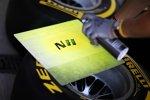 Die Reifen für Nico Hülkenberg werden markiert