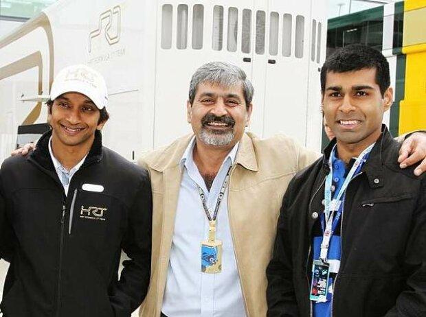 Narain Karthikeyan, Vicky und Karun Chandhok