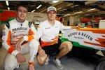 Paul di Resta (Force India) und Nico Hülkenberg (Force India)