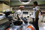 Lewis Hamilton und Sam Michael (McLaren)