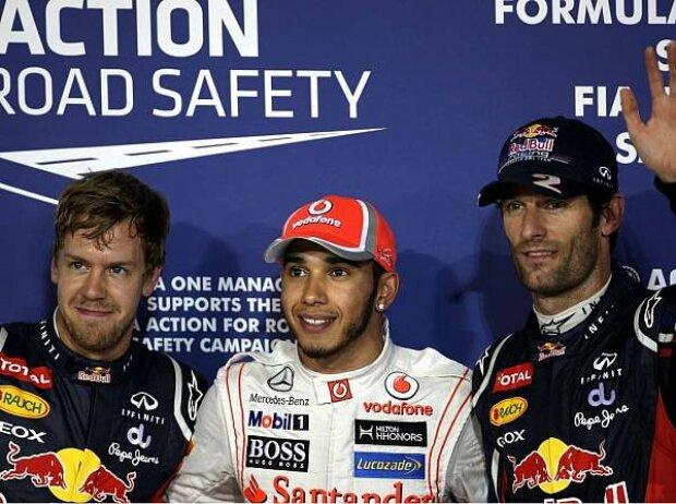 Sebastian Vettel, Lewis Hamilton, Mark Webber