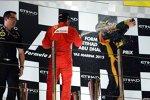 Fernando Alonso (Ferrari) und Kimi Räikkönen (Lotus)