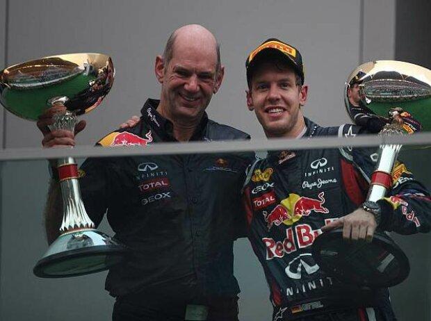 Sebastian Vettel, Adrian Newey (Technischer Direktor)