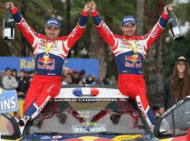 Sebastien Loeb und Daniel Elena nach ihrem Sieg bei der Rallye Spanien 2012