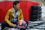 Mark Webber (Red Bull) kommt im Texas-Cowboy-Outfit