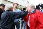 Bernie Ecclestone (Formel-1-Chef) und Christian Horner (Red-Bull-Teamchef)