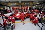 Boxenstopp-Übungen bei Ferrari