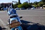 Texanisches Kennzeichen an einem Motorrad